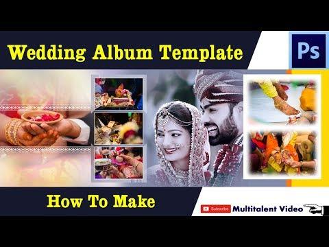 How To Create Wedding Album Template Design In Photoshop Hindi
