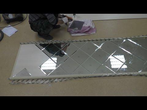 Встроенный шкаф купе с дверями фацет  Рабочий процесс