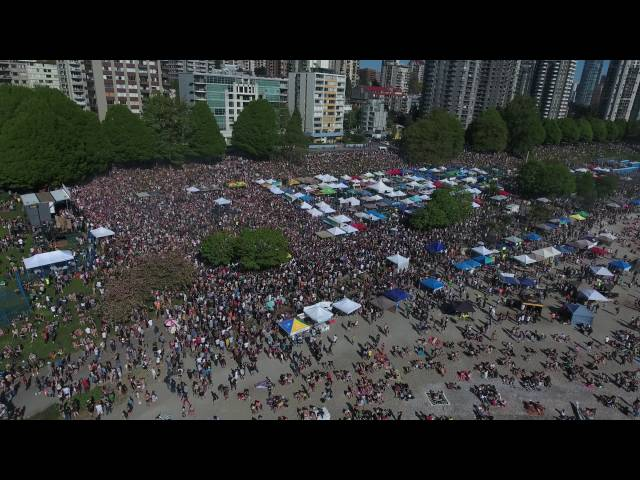 HD 4K Drone Phantom 4 flight – 420 Vancouver 2016