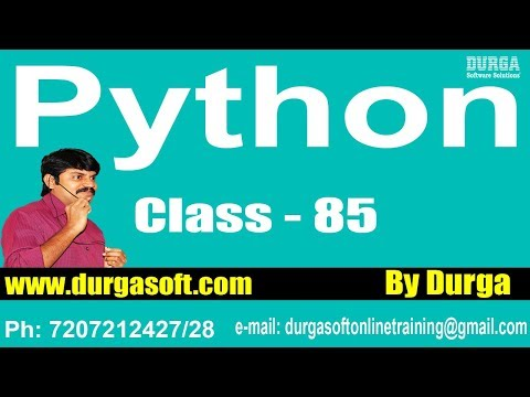 Learn Python Programming Tutorials || Python DataBase Programming Part – 1​ || On 27-05-2018