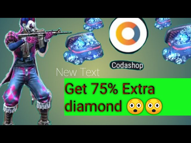 How to purchase diamond in freefire by codashop&solhow to get 75% Extra  diamond by codashop in freefire - vTomb