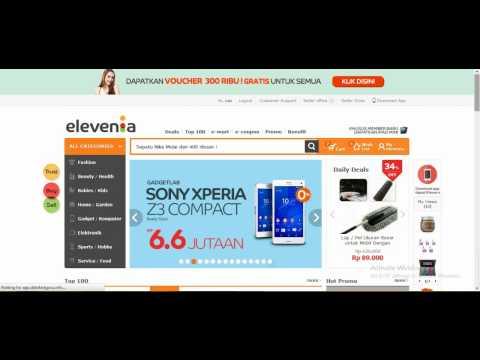Video Tutorial Elevenia Website