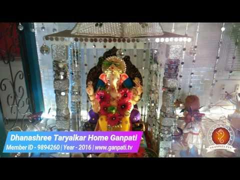 Dhanashree Taryalkar Home Ganpati Decoration Video