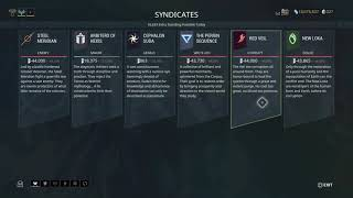 Warframe How To: Get Four Syndicates + At The Same Time