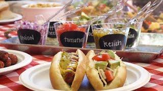 DIY Summer BBQ Hot Dog Bar