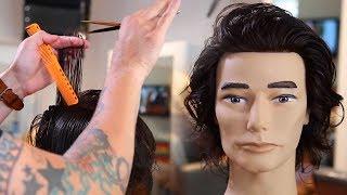Long Layered Mens Haircut Tutorial