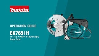 Makita Power Cutter Operation Guide (EK7651H) - Thumbnail
