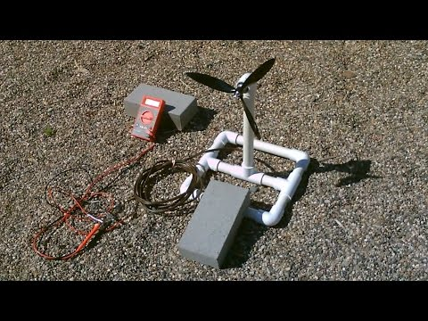 Homemade Wind Turbine Generator! – Wind Power Generator! – simple DIY (runs radio!)