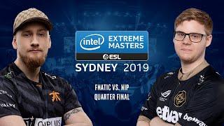 CS:GO - Fnatic vs. NiP [Dust2] Map 3 - Quarter Final #2 - IEM Sydney 2019