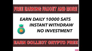 NEW FREE BTC EARNING WEBSITE / EARN DAILY 10000 SATOSHI AND INSTANT WITHDRAW / NO INVESTMENT