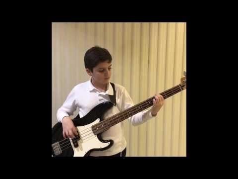 Mr. Brian teaching an eleven year old bass.
