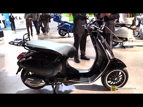 2015 Vespa Sprint 150 Scooter - Walkaround - 2014 EICMA Milan Motorcycle Exhibition