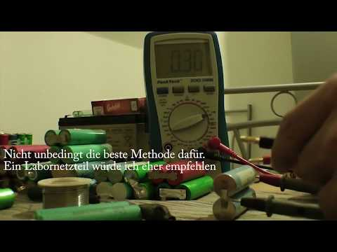 Reaktivieren tiefentladener Li Ion Akkus / Samsung ICR 18650 20