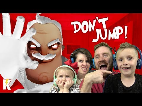 Try Not to Jump in HELLO GRANNY! Hello Neighbor Family Challenge   KIDCITY GAMING