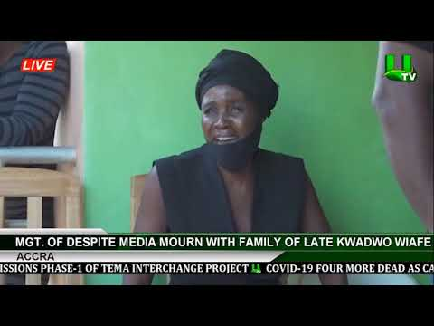 Management Of Despite Media Mourns With Family Of Late Kwadwo Annor Wiafe