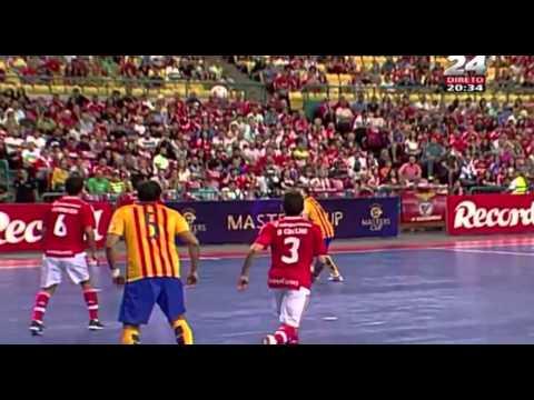 VIDEO: SL Benfica vs FC Barcelona 3-2 Futsal - Resumo e Golos - Master CUP 2015 (22/08/2015)
