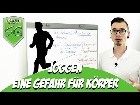 Joggen - eine Gefahr für den Körper