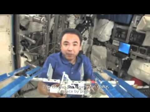 Astronaut Builds Lego ISS Inside ISS