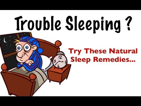 Trouble Sleeping? - Try these natural sleep aids