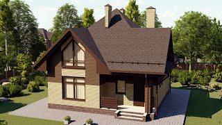 Проект дома 138-B, Площадь дома: 138 м2, Размер дома:  9x9 м