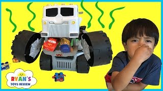 TOY TRUCKS FOR CHILDREN Matchbox Stinky the garbage truck eats Disney Cars Surprise Kids Toys Cars