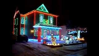 Christmas house hippie peace sign led lights, granite city 2013 part 1