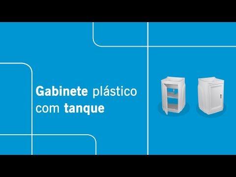 Gabinete plástico com tanque