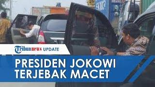 Viral! Iring-Iringan Presiden Terjebak Macet, Mobil Jokowi Sama Sekali Tidak Bergerak