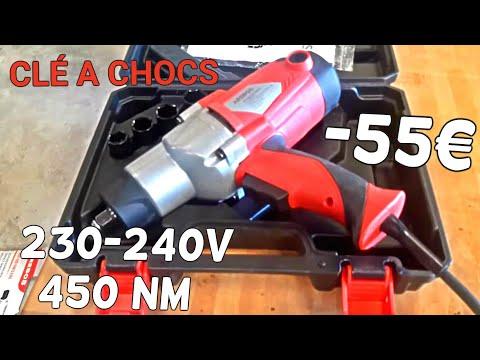 CLÉ A CHOCS A -55€  230-240V   450 Nm Arebos