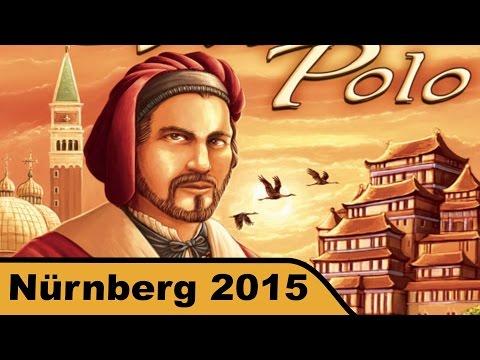 Auf den Spuren von Marco Polo (Deutscher Spielepreis 2015) - First Look - Spielwarenmesse 2015