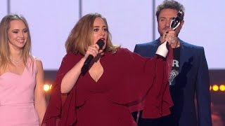 'Hello' by Adele wins British Single   The BRIT Awards 2016