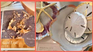 How-to Paint & Gild Sand Dollars by Hiedi Scott, Maker with A Makers' Studio