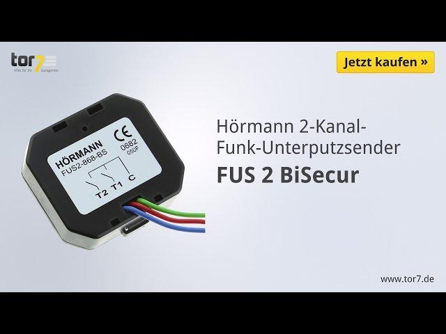 Produktvideo Hörmann 2-Kanal-Funksender-Unterputz FUS 2, BiSecur