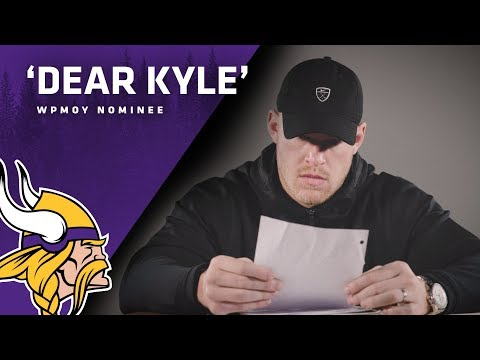 Dear Kyle, Minnesota Viking tight end has silently donated millions to dying children and they say their families have a message for him.. (grab tissues)