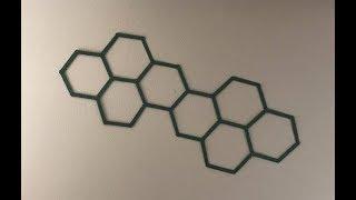 Hexagon Popsicle Stick Wall Hanging Art - DIY Craft