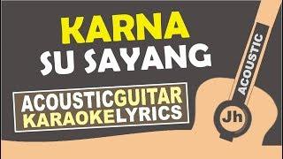Near - Karna Su Sayang Ft Dian Sorowea (Acoustic Karaoke)