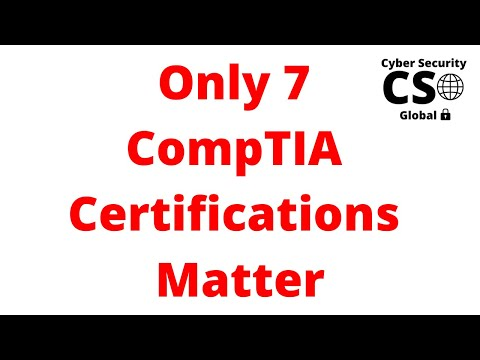 The Only 7 CompTIA Certifications That Matter - YouTube