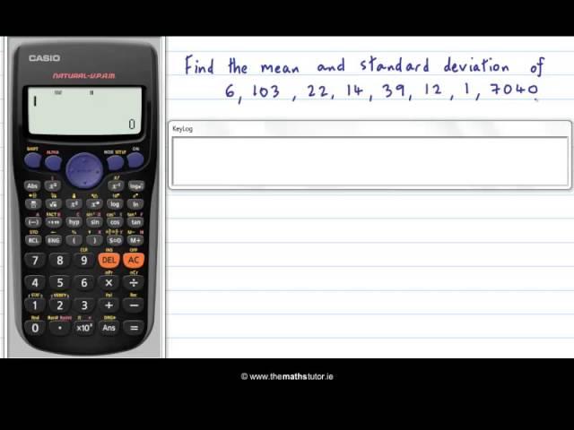 Casio Calculator Standard Deviation Casio Calculator Standard