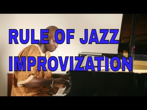 How the improvise on Piano like a Jazz musician. Rules of melodic linear imrpovisation