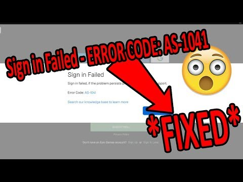 How to Fix EpicGame Launcher Error Code AS -1041 *SOLVED* 2019 *reupload*