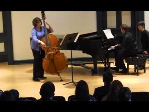 Playing the Scherzo from Hindemith's Sonata for Double Bass and Piano with my wife Kimberly on her MM recital at Peabody in 2014!