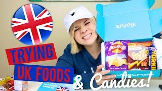 🇺🇸 AMERICAN TRYING UK CANDIES AND FOODS! 🇬🇧