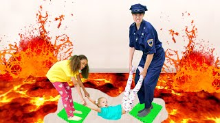 The Floor Is Lava With Lily And Ella!