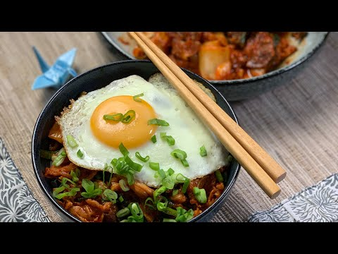 Buta kimchi, a bowl of spicylicious meal