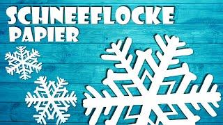 Schneeflocke basteln aus Papier - how to make paper snowflake DIY craft [4K]