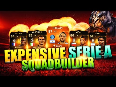 Fifa 15 Most Expensive Seire A Squad Builder Ultimate Team Motm Higuian