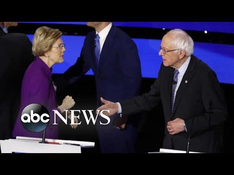 Audio captures post-debate confrontation between Sanders, Warren l ABC News
