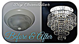 At Home Diy Chandelier And Decorate With Me.  #diyChandelier #chandelier #diycrystalchandelier