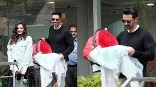 Arjun Rampal & Girlfriend Gabriella Demetriades Head Back Home With Their Baby