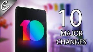 Top 10 MIUI 10 Features - Major Changes!